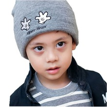 Moeble Boys girls Beanie Slouchie Hat Kids Accessories Knitted unisex cap Children's hat Small hand pattern For autumnH025