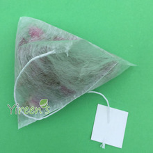 Free shipping! 1000pcs 58 X 70mm Corn Fiber Tea bags, PLA Biodegraded Tea Filters, Quadrangle Pyramid Heat Sealing Filter Bags