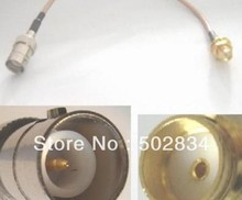 10PCS/LOT RP-BNC female to SMA female nut bulkhead pigtail RG316 connector Cable 20cm(China)