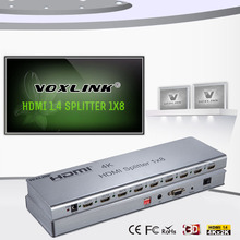 1x8 PORT 3D HDMI Splitter HDMI V1.4 Switch Switcher Split 1 in 8 Out Converter Support IR Extension EDID RS232 -Adapter