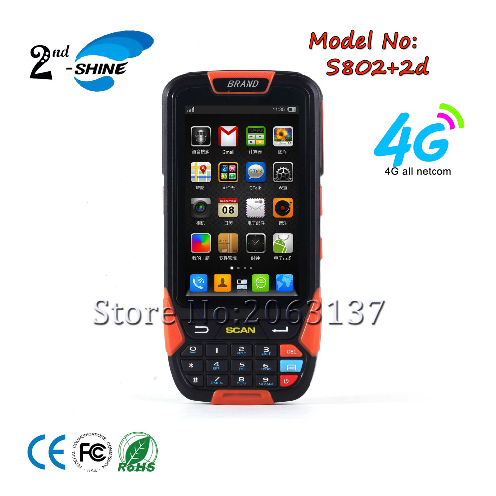 S802 Android 5.1 OS Handheld Mobile POS Terminal Rugged PDA 2D Barcode Scanner Wifi 4G Bluetooth Gps Data Collector(China)