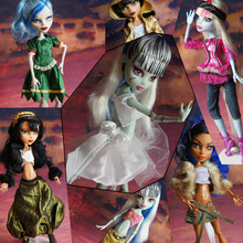 HOT SALE For Monster High Dolls 30Items= Dresses + Shoes + Bags + Hanger Original Clothing Suits Fashion Doll Set Big Promotion