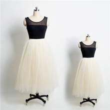 Princess 5 Layers Horsehair Tulle Skirts Mother & Daughter Women's Tutu Plus Size Any Color Wedding Bridesmaid Flower Girl