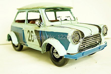 Free shipping Antique Finishing retro saloon car model Handmade Vintage metal car home/Pub decoration creative gift