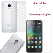 For Meizu M5s/M3 Note/M3s/Mini/Pro 5/6/MX6/Note/U20 Carbon Fiber Back Film Sticker Screen Protector Tempered Glass Case Cover