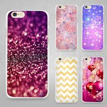 Fade Bling Print Hard White Cell Phone Case Cover for Apple iPhone 4 4s 5 5C SE 5s 6 6s 7 8 Plus X