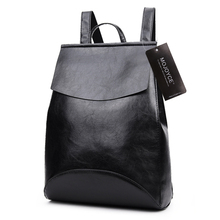 2017 Design PU Women Soft Leather Backpack College Student High School Bags for Girl Teenager Backpack Ladies Laptop Book