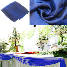 2017 hot sale 1000cmx135cm Top Table Swags Sheer Organza Swag Fabric Wedding Party Christmas Bow Decorations DIY