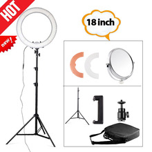 Travor RL-18 18inch big photography ring light with carry bag 240pcs led beads inside 55w ringlight lamp for makeup+light tripod(China)