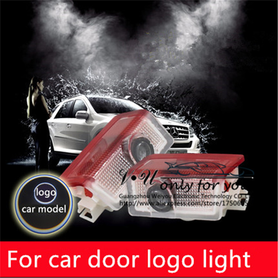 NO drill Wireless LED Car LOGO Custom Courtesy Light Specified Car Door Ground For Mercedes Benz CLA A-Class CLS W218 X218<br><br>Aliexpress