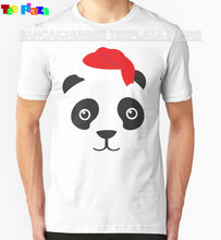 2017 Rushed Top Fashion Fashion Cotton Knitted Print Teeplaza Designer Tee Shirts Gift Men Cute Panda Ugly O-neck Short-sleeve(China)