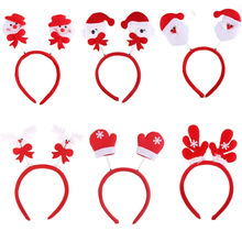 1pc Lovely Snowman Santa Claus Bear Elk Pattern Head Fancy Bands Hair Hoop Christmas Decoration Supplies For XMAS Party(China)