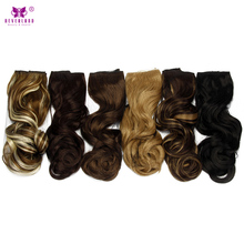 "Neverland 22"" Wavy Synthetic 5 Clips One Piece High Temperature Fiber Women Hair Pieces Clip In Hair Extensions Fake Hair"