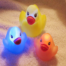 Baby Toys Rubber Duck Children Float Water Swimming Play Mini Small Educational For Child's Random Color Practical JokesToys