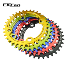New EKFan Round Shape Narrow Wide 32T/34T/36T 104BCD MTB Chainring 7075-T6 Bicycle Chainwheel Bike Circle Crankset Single Plate