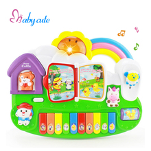 Kids Educational Toys Musical Instrument Colorful Piano Electrical Keyboard Lighting Beautiful Sound Brinquedo For Baby