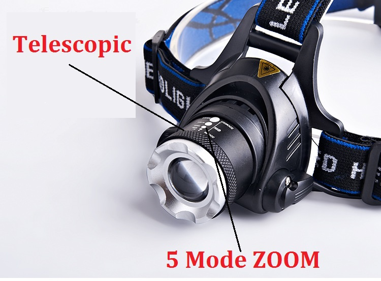 HOT T6 headlight led headlamp waterproof zoom head lamp 18650 battery flashlight head torch Lights camping fishing lighting