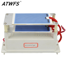 ATWFS 7g/h Ozone Generator 220V/110V Generator Water Air Cleaner with Ceramic Plate Longevity Double Sheet Sterilizer