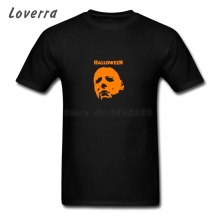 Halloween Michael Myers Man TShirt Short Sleeve Fitness T-Shirt Men Cotton Jersey Brand Clothing O-Neck Fitness Tee Shirt(China)