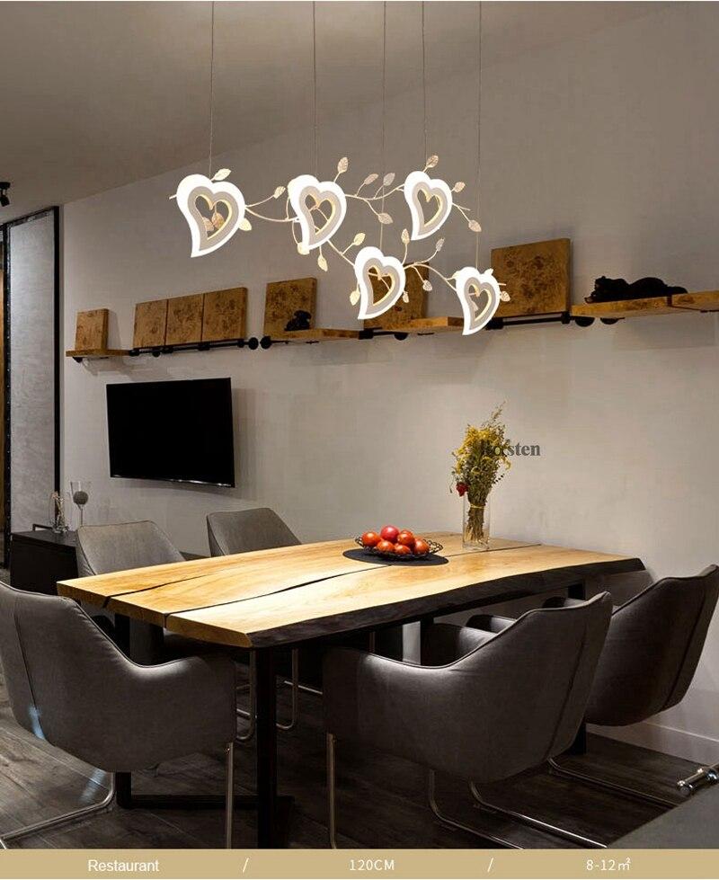 Romantic Love Heart LED Pendant Lights (4)
