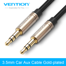 Vention Aux Cable 3.5mm Jack Audio Cable 90 Degree Right Angle 3.5 AUX Cord for Car iphoneheadphone beats speaker MP3/4 aux wire(China)