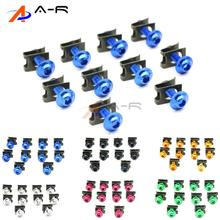 Fairing Body Bolt 6MM Spire Speed Fastener Clips Screw Spring Nut for Kawasaki NINJA ZX6 ZX6R ZX6RR ZX7R ZX9R ZX10R ZX14R ZZR600