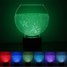 2017 new fation express it in the foreign trade hot style The Aquar  3 d a night light Smart home colorful LED lights USB power