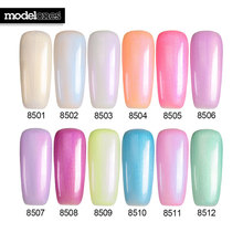 Modelones 7ML Newest Pearl Color Gel Polish Nail Art Salon UV Nail Gel Polish Soak Off Gel Nail Polish Dry With UV Lamp Varnish
