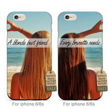 MaiYaCa soft black tpu Every Brunette Needs A Blonde Best Friend Fashion couple phone case cover For iPhone se 5s 6s 7 plus case