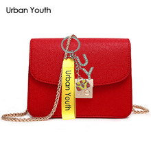 Urban Youth Small Casual Women Messenger Bags PU Leather Chain Crossbody Bags Ladies Shoulder Purse And Handbags Bolsas Feminina