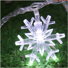 3M 20 LED Snowflake Battery Christmas String Lights for home Garland decoration wedding patio indoor bedroom fairy lights(China)