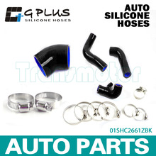 Silicone Boost Turbo Hose Kit Fit For BENZ C200K W203 2000-2007 Black(China)