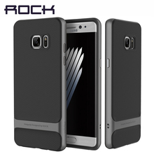 ROCK Royce Brand Phone Cases for Samsung Galaxy Note7 Fan Edition Luxury Combo Tough PC+TPU Protective Shell for Note FE Covers(China)