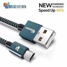 5V 2A Micro USB Cable TEGEM Fast Charger Data Cable Nylon Braided Cable Mobile Phone USB Charger Cable For Samsung HTC Huawei(China)