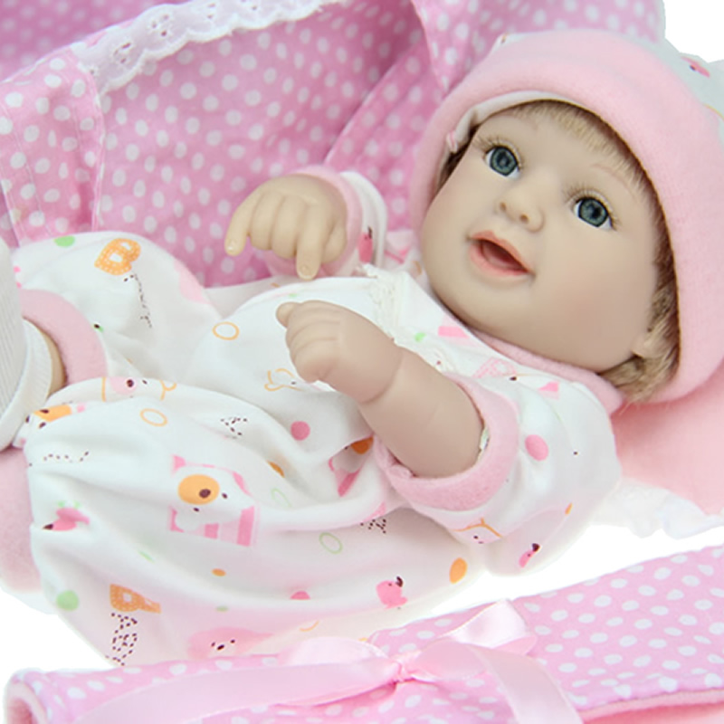 Real Looking 11 Inch Realistic Reborn Baby Dolls Full Body Soft Silicone Girl Babies With Beautiful Clothes For Collection<br><br>Aliexpress
