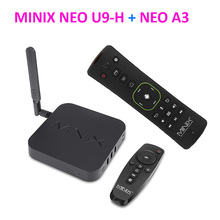 DHL MINIX NEO U9-H + A3 Smart TV BOX With Voice Input Air Mouse 64-bit Octa-Core Media Hub for Android 2GB 4K HDR Smart TV Box