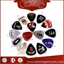 50pcs 0.71mm metal band metallica guitar pick with double sides printing