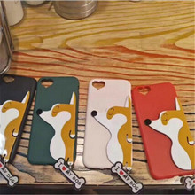UVR Akita Corgi dog heart case For Iphone 6 6s plus 7 7 plus 5s Phone cases mobile phone case back covering Dust plug capa