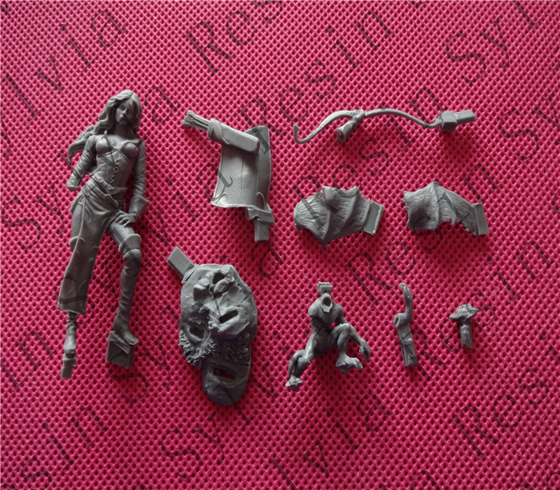 (General quality version) Unpainted Kit 1/32 54mm shaunye Fantasy Characters 54mm Historical WWII Figure Resin Kit(China)