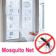 Summer DIY Insect Fly Bug Mosquito Door Window Net Mesh Screen Protector Windows Net Curtain Flyscreen Home Decoration EJ602668(China)
