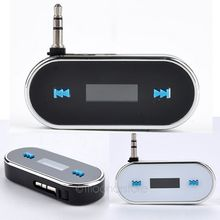 Car FM USB 3.5mm Transmitters Transmite wireless Audio Transmitter Stereo Dongle Adapter for iPhone iPad Cellphones