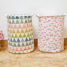35*45cm Hot Geometry flamingos Drawstring Storage bags,Household toys Dirty Clothes Foldable colorful Storage Basket Storage Bag(China)