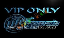 LA408- Miller Time Live VIP Only Beer LED Neon Light Sign