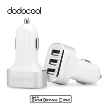 [MFi Certified] dodocool Universal USB Car Charger 3 Ports Car-Charger for phone Charger Adapter Socket for Samsung iPhone 6 6s(China)