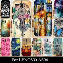 For LENOVO A606 A 606 Mobile Phone Cover Case High Quality Transpatent Soft Silicone tpu Color Paint Painting Case