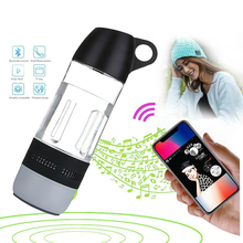 New 2 in 1 400ml Water Bottle Bluetooth Speaker Yoga Biking Outdoor Wireless Speaker Sound Stereo Music Player Support TF Card(China)
