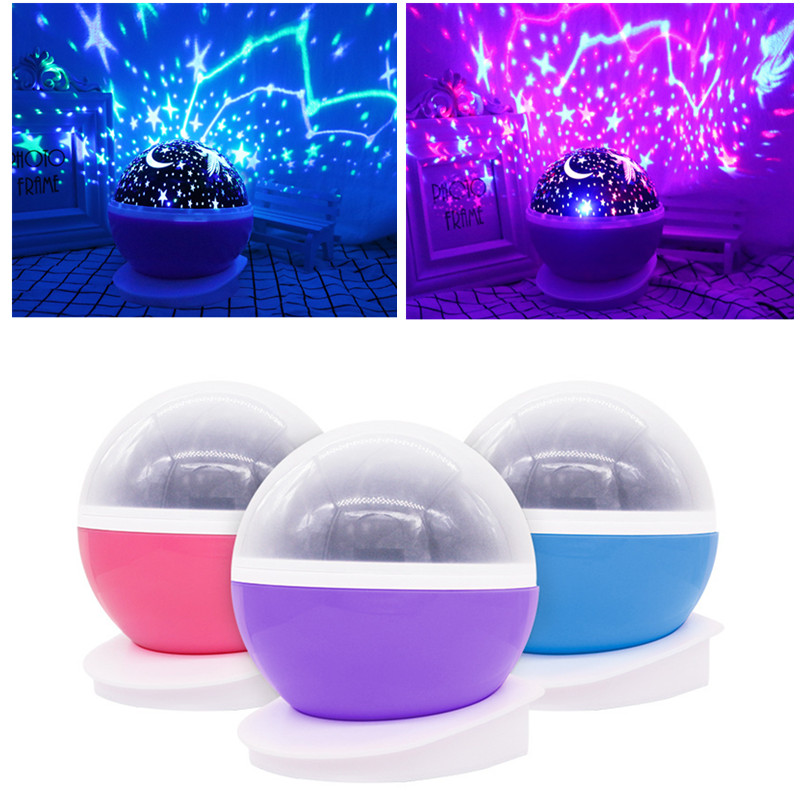 6-Stars Moon Sky Projector Baby Toys Glow In The Dark Child of Light For Boys Girls Christmas Halloween Creative Birthday Gifts
