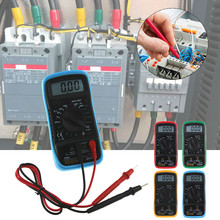 AN8205C Thermometry Digital Multimeter Voltmeter Ammeter AC DC OHM Volt Tester Test Temperature Gauge Yellow/Red/Blue/Green(China)