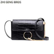 ZHI GENG BIRDS Woman Leather Bag New Luxury Clutch Women Messenger Bags Fashion Crocodile Shoulder Bag Chain Small Flap Packs