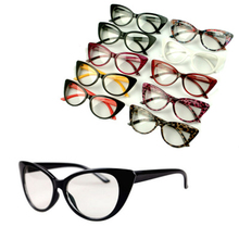 Fashion Women Cat Eye Glasses Frames Sexy Striped Retro Eyeglasses Ladies Vintage Spectacles Frame Clear Lens Glasses Designer